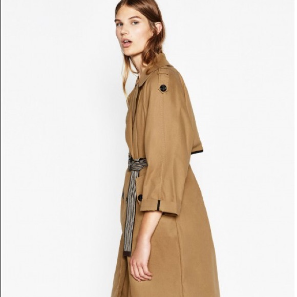32a04faf Zara Jackets & Coats | Nwt Long Trench Coat In Camel Color S Fall ...
